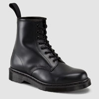 8 Eye Black Smooth Mono Dr. Martens Boot