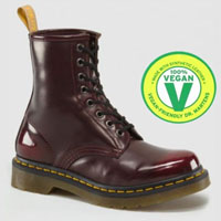 8 Eye Cherry Red Cambridge Brush Vegan WOMENS Dr. Martens Boots