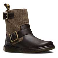 Gayle Tweed & Leather Dr. Marten Biker Boot (Womens) (Sale price!)