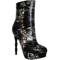 Victorian Anatomy Boot By Too Fast Clothing - SALE sz 10 only