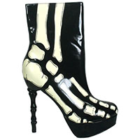 Victorian Xray Boot By Too Fast Clothing - SALE sz 10 only