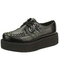 Black Leather Mondo Sole Viva Creeper by Tred Air UK - SALE men's 8/women's 6 only