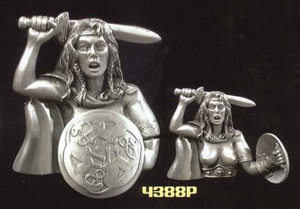 Amazon Warrior belt buckle (Shield moves) (bb227)