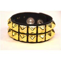 2 Row BRASS Pyramid Bracelet by Funk Plus