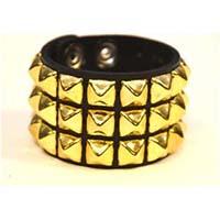 3 Row BRASS Pyramid Bracelet by Funk Plus