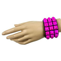 3 Row PINK Pyramid Bracelet by Funk Plus