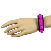 1 Row PINK Pyramid Bracelet by Funk Plus