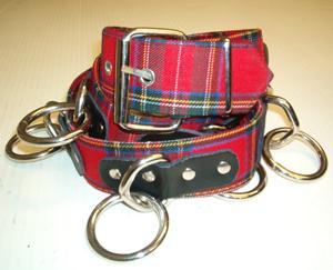 Bondage Belt- Red Plaid