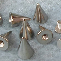 "1/2"" Cone Spike #1- SILVER (10x14mm)"