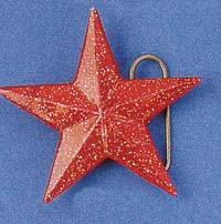 Red Nautical Star Belt Buckle (bb98) (Sale price!)