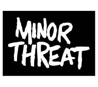 Minor Threat- Logo sticker (st14)