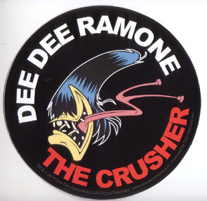 Dee Dee Ramone- The Crusher sticker (st453)