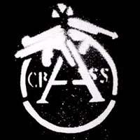 Crass- Cracked Gun sticker (st725)