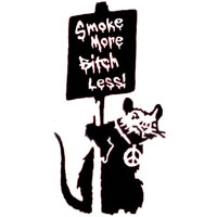 Smoke More Bitch Less ruboff sticker