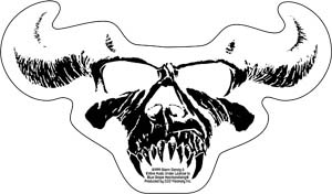 Danzig- Skull on a clear sticker (st402)