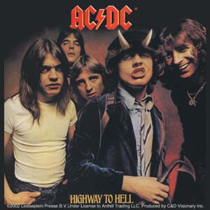 AC/DC- Highway To Hell sticker (st411)