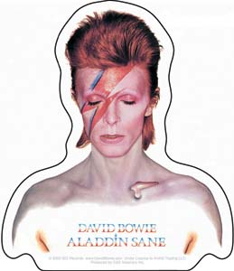 David Bowie- Aladdin Sane sticker (st331)