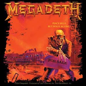 Megadeth- Peace Sells sticker (st484)