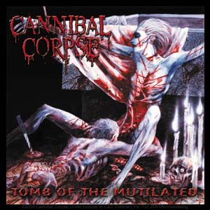 Cannibal Corpse- Tomb Of The Mutilated sticker (st423)