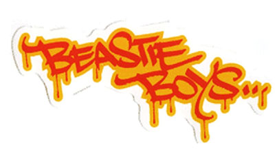 Beastie Boys- Graffiti Logo sticker (st404)