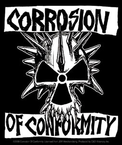 Corrosion Of Conformity- Skull sticker (st38)