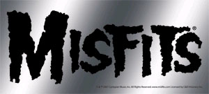Misfits- Metallic Logo sticker (st985)