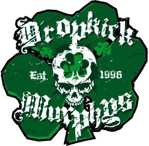 Dropkick Murphys- Shamrock Skull sticker (st334)