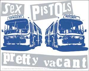 Sex Pistols- Pretty Vacant sticker (st309)