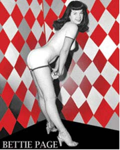 Bettie Page- Wall sticker (st498)