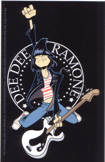 Dee Dee Ramone- Cartoon Pic sticker (st465)