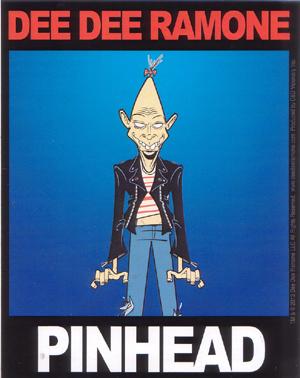 Dee Dee Ramone- Pinhead sticker (st457)