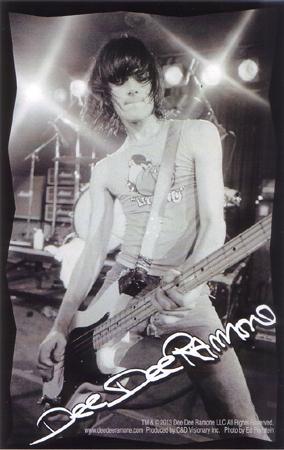 Dee Dee Ramone- Live Pic sticker (st459)