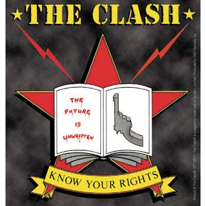 Clash- Know Your Rights sticker (st100)