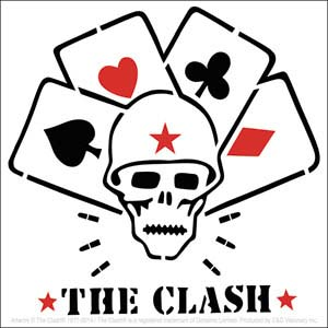 Clash- Skull & Cards sticker (st113)