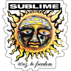Sublime- 40oz To Freedom sticker (st136)