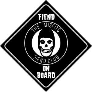 Misfits- Fiend On Board sticker (st986)