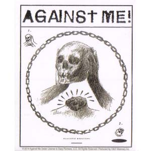 Against Me!- Skull sticker (st412)