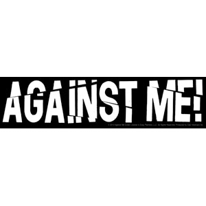 Against Me!- Broken Logo sticker (st555)