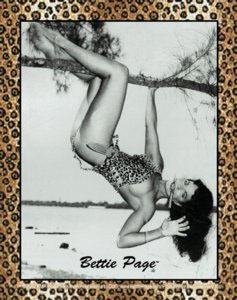 Bettie Page- Hanging sticker (st448)