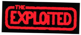 Exploited- Logo sticker (st237) (Sale price!)
