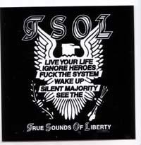 TSOL- True Sounds Of Liberty (Eagle) sticker (st370)