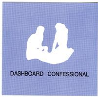 Dashboard Confessional- Couple Sillhouette sticker (st410)