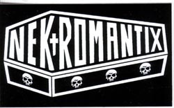 Nekromantix- Coffin sticker (st431)