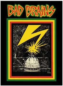 Bad Brains- Lightning Striking Capitol sticker (st489)