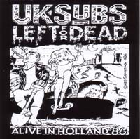 UK Subs- Left For Dead sticker (st60)