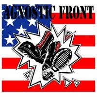 Agnostic Front- Boots And Flag sticker (st657)