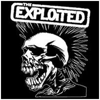 Exploited- Screaming Skull sticker (st858) (Sale price!)