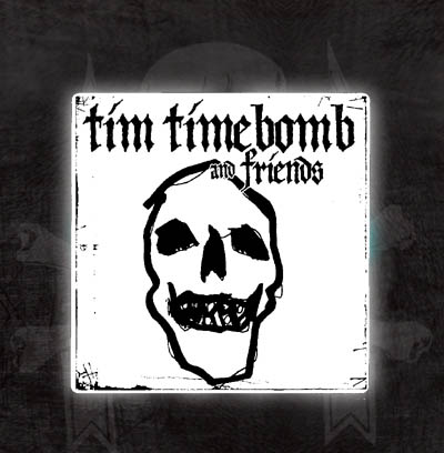 Tim Timebomb- Sketchy Skull sticker (st536)