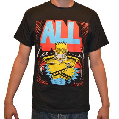 ALL- Samarai on a black shirt (Sale price!)
