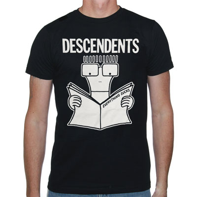 Descendents- Everything Sucks on a black shirt